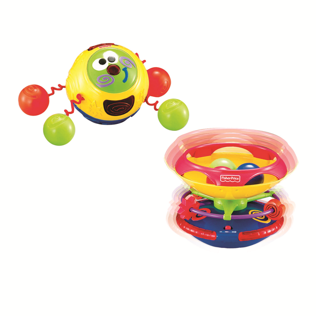 FISHER PRICE  AMIGUITO TOCA Y GATEA PLATILLO GIRATORIO