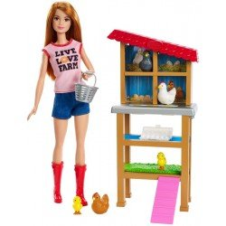 Barbie Careers Granjera Con Animales