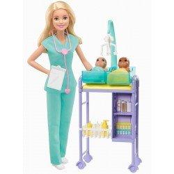 Barbie Careers Pedíatra 2 bebés