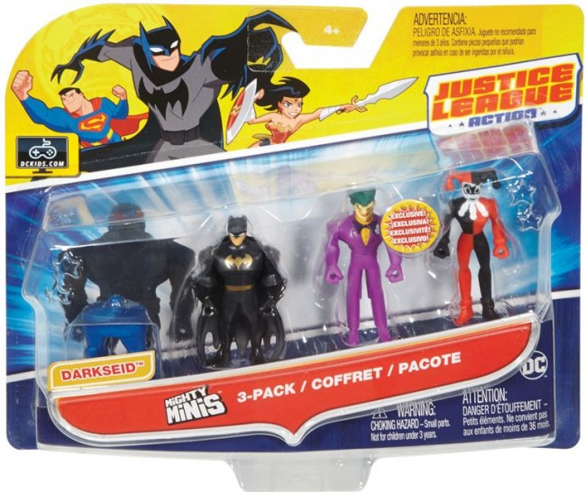 DC COMICS JUSTICE LEAGUE MIGHTY MINIS 3 PACK