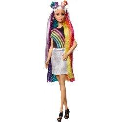 Barbie Fashionista Peinados de Arcoíris
