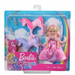 Barbie Dreamtopia Princesa Chelsea y Unicornios