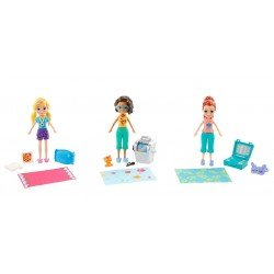 Polly Pocket Pack de 3 muñecas casa club de polly