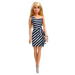 Barbie Glitz Vestido A Rayas
