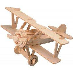 Rompecabezas De Madera 3D Avion Bi