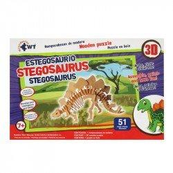 Rompecabezas 3D de Madera Wuundentoy Stegosaurio