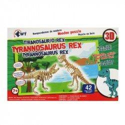 Rompecabezas 3D de Madera Wuundentoy Tiranosaurio Rex