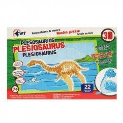 Rompecabezas 3D de Madera Wuundentoy Plesosaurios