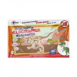 Rompecabezas De Madera 3D Grande Velociraptor