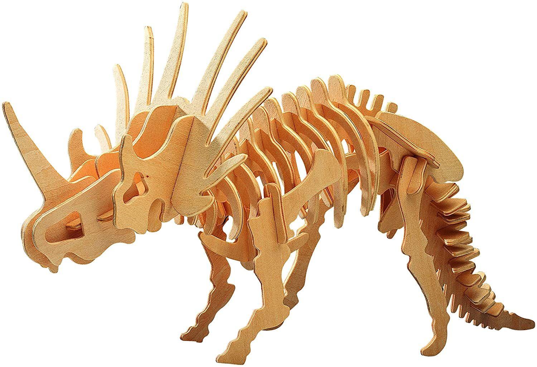 Rompecabezas De Madera 3D Grande Styracosaurio