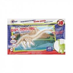 Rompecabezas De Madera 3D Grande Diplodacus