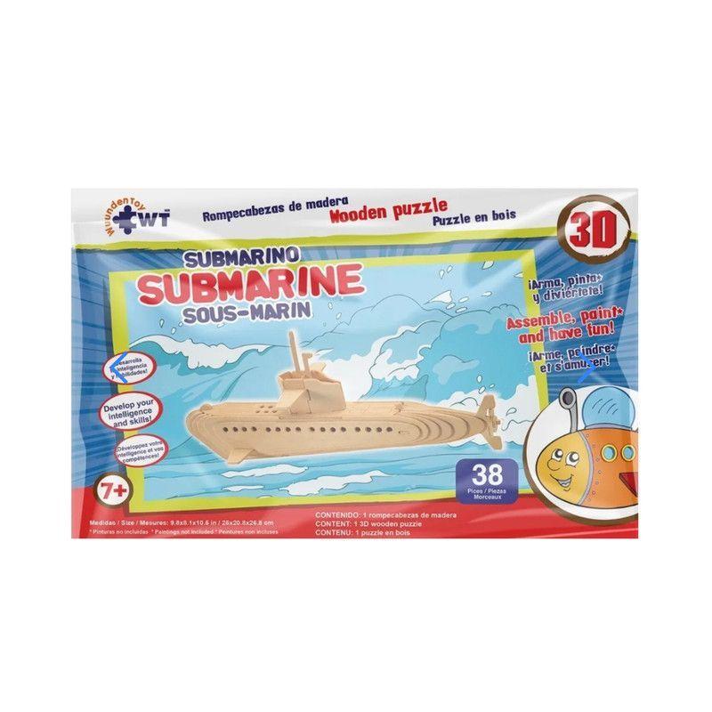 Rompecabezas De Madera 3D Grande Submarino