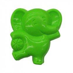 Molde Para Arena Básico Elefante Verde