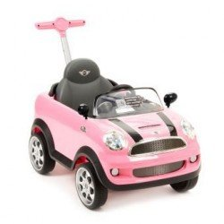 MINI COOPER PUSH CAR ROSA
