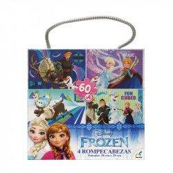 Rompecabezas 4 en 1 Frozen Novelty