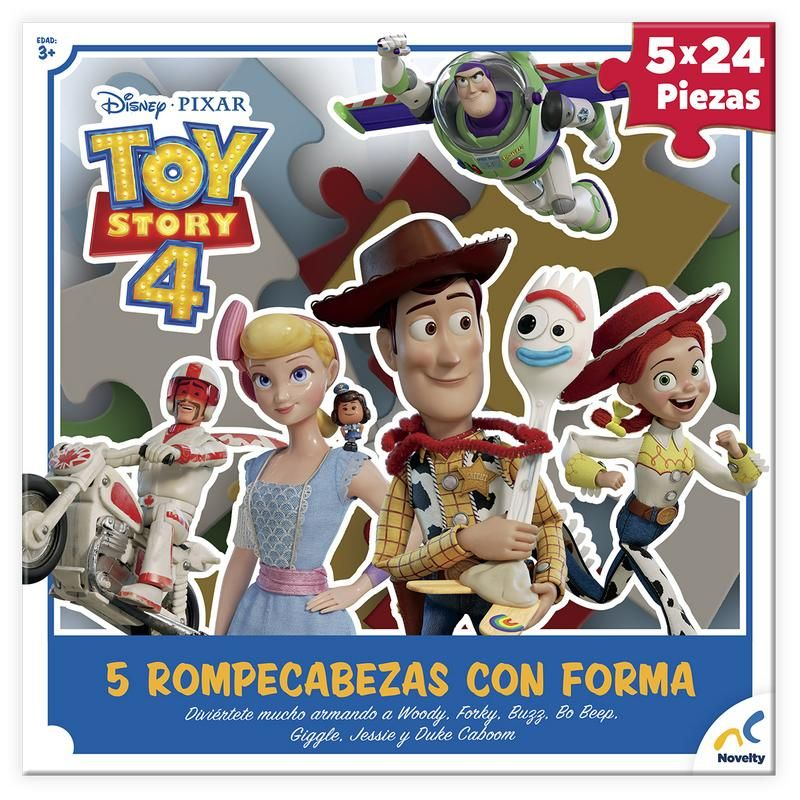 ROMPE CABEZAS 5 EN 1 CON FORMA TOY STORY 4