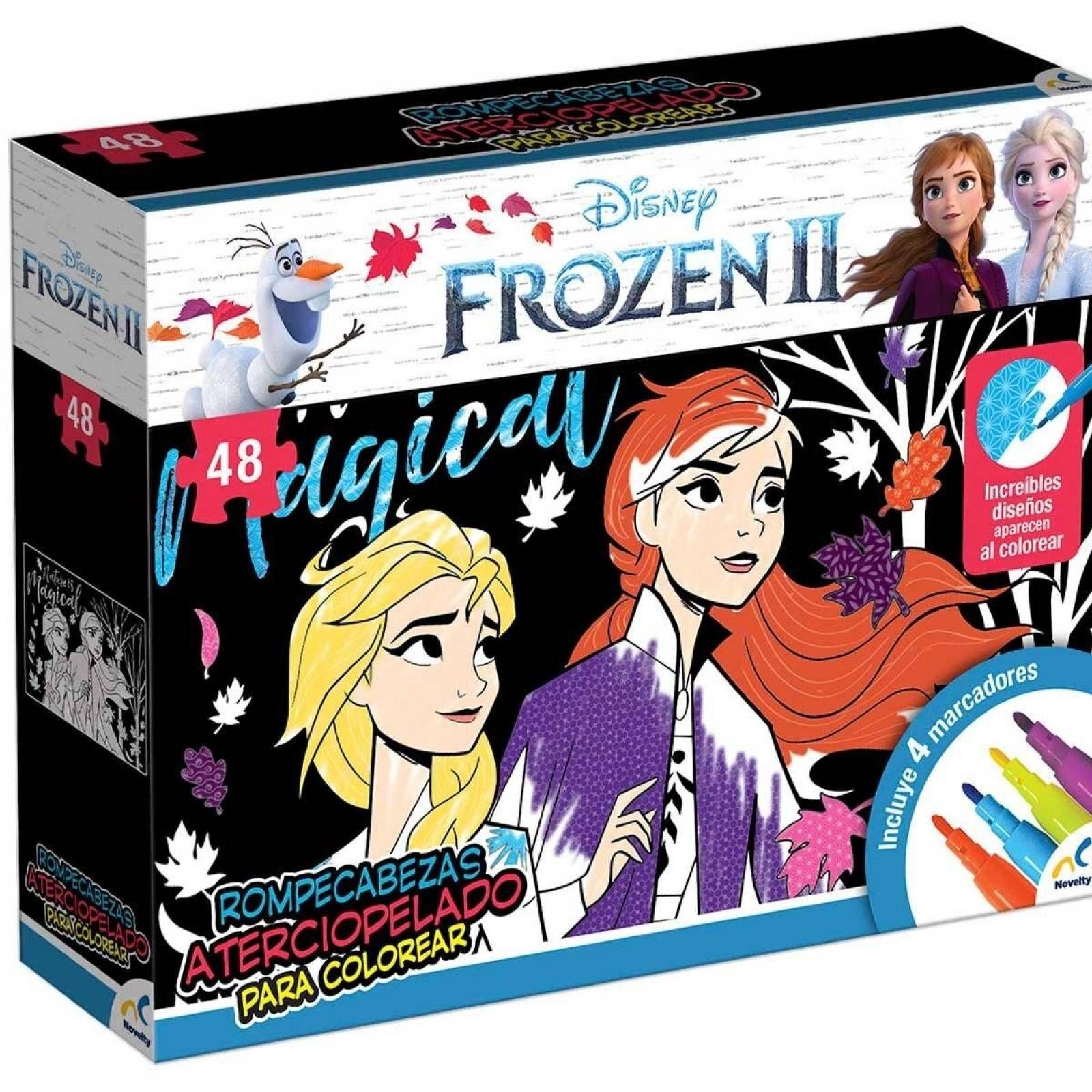 Rompecabezas aterciopelado para colorear Frozen II