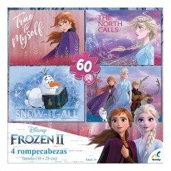 Rompecabezas 4 en 1 Frozen II