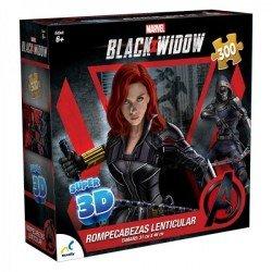 Rompecabezas Super 3D Marvel Black Widow- 300 Piezas