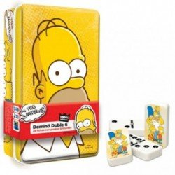 DOMINO THE SIMPSONS EN CAJA METALICA