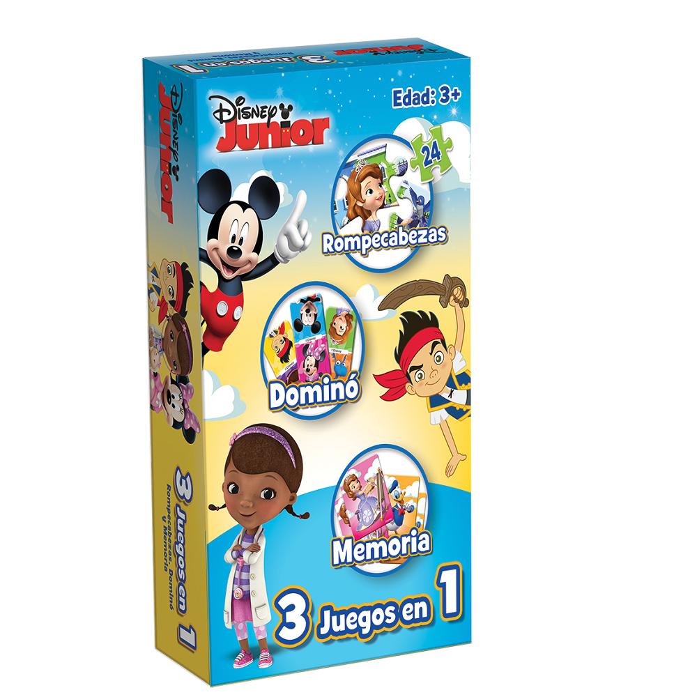 Set 3 Juegos En 1 Disney Jr Juguetron