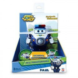 Super Wings Figura Transformable Paul