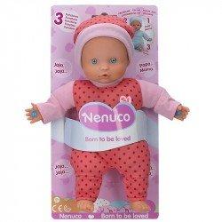 Muñeco Nenuco Baby 3 Funciones Wave 2 Rosa