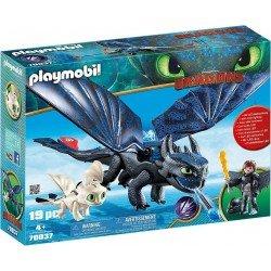 Playmobil 70037 Hipo y Chimuelo con bebé dragón