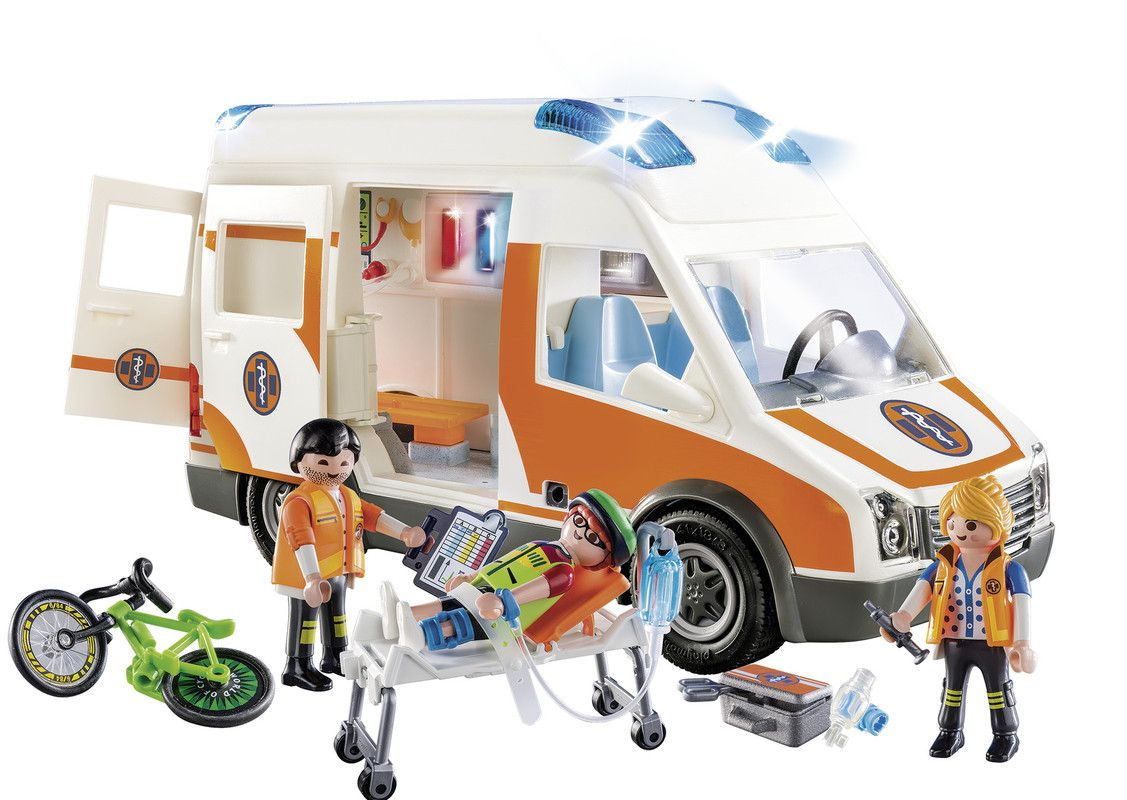 Playmobil 70049 Ambulancia Con Luces