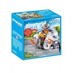 Playmobil 70051 Moto De Emergencias