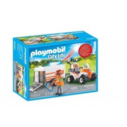 Playmobil 70053 Quad De Rescate Con Remolque