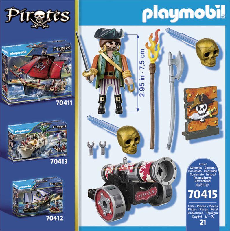 Playmobil 70415 Pirata Con Cañón.