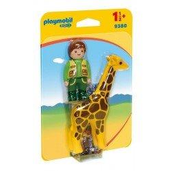 Playmobil 123: Cuidador con Jirafa