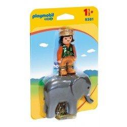 Playmobil 123: Cuidador con Elefante