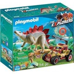 Playmobil 9432 Vehículo Explorador con Estegosaurio con Tentáculo