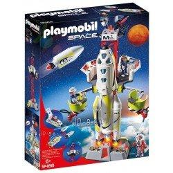 Cohete con plataforma de lanzamiento