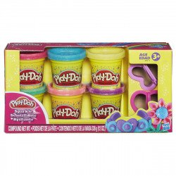 Play-Doh A5417 Sparkle Compound Collection 6 Pack