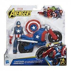 Marvel C0478 Figura Capitán América Con Motocicleta 6 Pulgadas Avengers