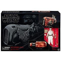 HASBRO STAR WARS  BLACK SERIES FIGURA REY'S SPEEDER 6 PULGADAS