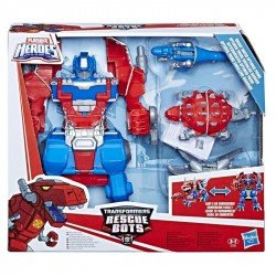 Transformers E0158 Transformers Knight Watch Figura de Acción Optimus Prime Juguete Hasbro