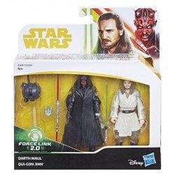 Star Wars E1687 Figura Darth Maul & Quigon Jinn 2 Pack  Figura