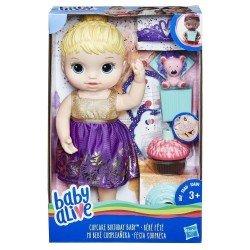 BABY ALIVE MI BEBE CUMPLEANERA RUBIA HASBRO
