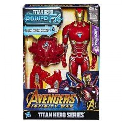 AVENGERS 12 TITAN HERO POWER FX IRON MAN HASBRO