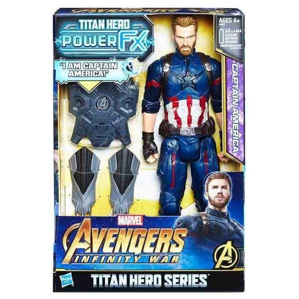 AVENGERS 12 TITAN HERO POWER FX CAPITAN AMERICA HASBRO