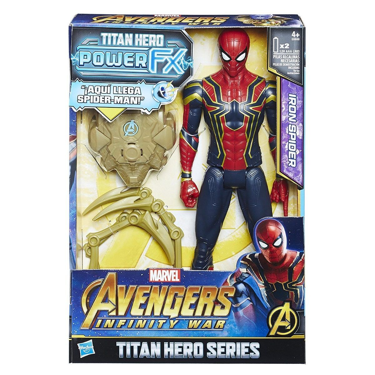 AVENGERS 12 TITAN  POWER TECH SPIDER MAN HASBRO
