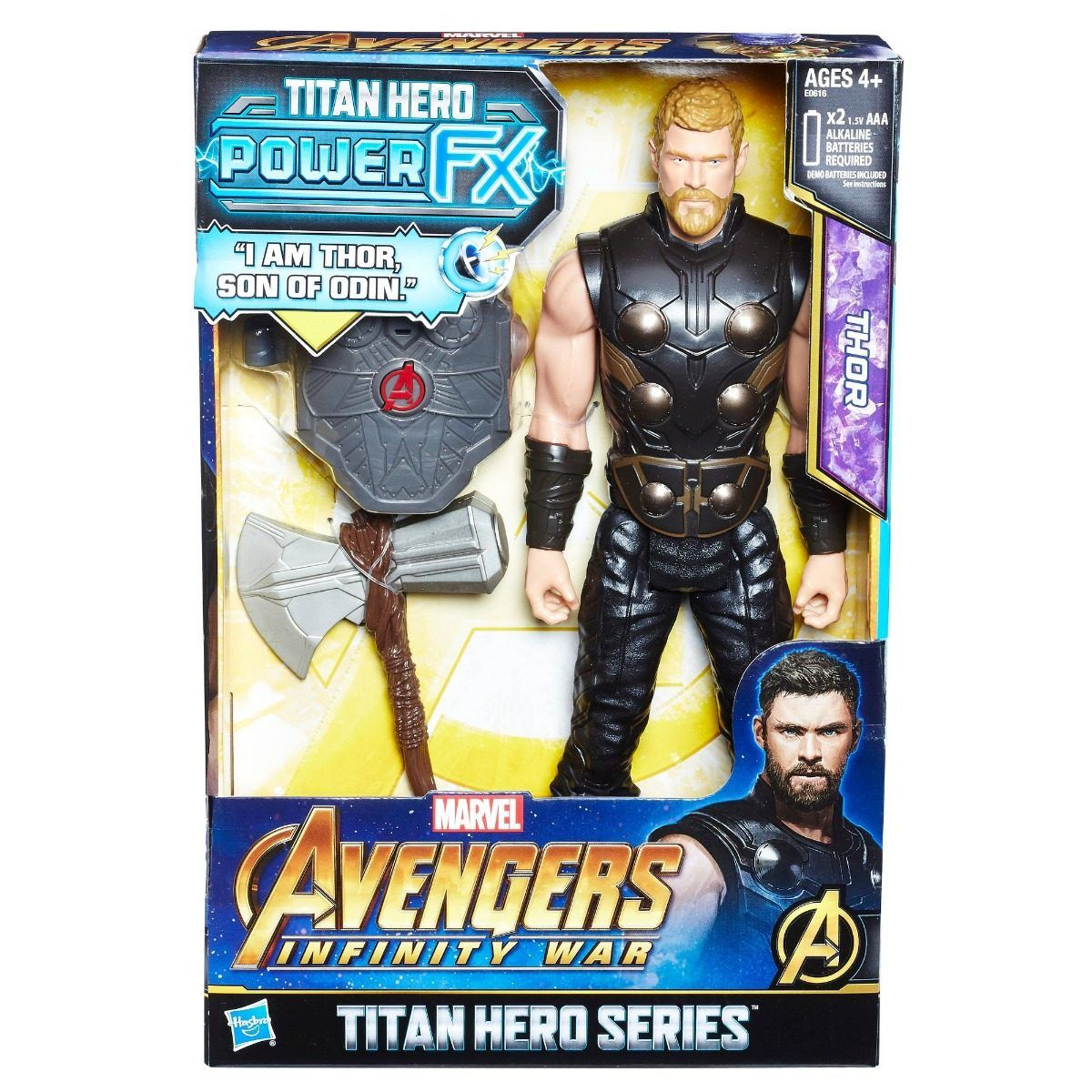 AVENGERS 12 TITAN HERO POWER FX THOR HASBRO
