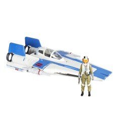 Vehículo Resistance A-Wing Fighter y Figura Resistance Pilot Tallie Force Linke 2.0 Star Wars