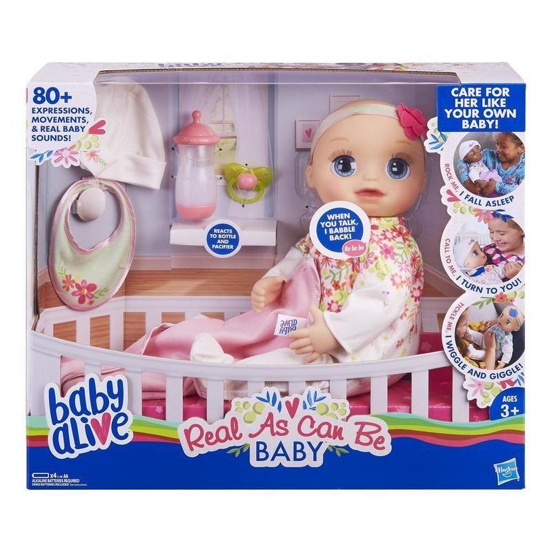 Baby Alive Mi bebita de verdad (Pelo rubio esculpido)
