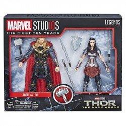 Figuras Thor & Sif Marvel 10th Anniversary