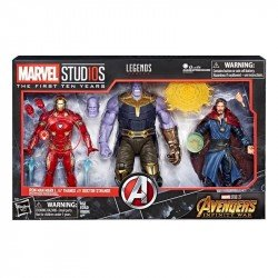 Figuras Iron Man Mark L & Thanos & Doctor Strange Marvel 10th Anniversary